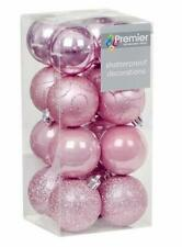32 (2x16) Pink Mix 50mm Shatterproof Baubles Christmas Tree Decorations Themed