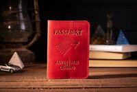 Premium Genuine Leather Passport Cases With Money Cards Holder Gift For Travel