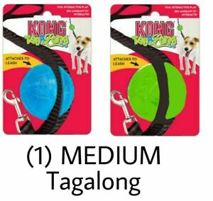 KONG TagALong Ball For Dogs Medium Easy Clips Onto Lead For Walks And Play