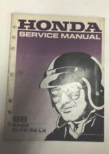 1988 HONDA ELITE 50 LX SCOOTER SA50 Factory Dealer Shop Service Repair Manual 88