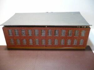 """HO SCALE 2 STORY FACTORY MILL BUILDING  16"""" x 9"""""""