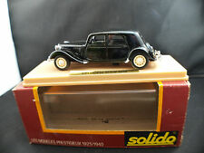 solido L'âge d'or n° 32 Citroën 15 CV traction 1938 neuf 1/43 MIB 1:43