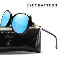 Pearl Designer Oversized Polarized Sunglasses Womens Fashion Mirrored Eyewear