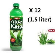 OKF Aloe Vera King Healthy Drink - 12 Bottles x 1.5 Litre