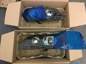 MGZR PAIR FACELIFT FRONT HEADLIGHTS XBC003000 XBC002990 RHD New Genuine MG ROVER