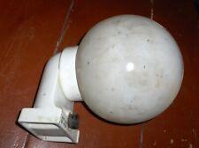 Alte Wandlampe abgewinkelt im Bauhaus - Stil mit Glaskugel Durchmesser 19 cm