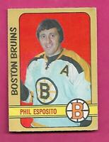 1972-73 OPC # 111 BRUINS PHIL ESPOSITO GOOD CARD (INV# D6700)