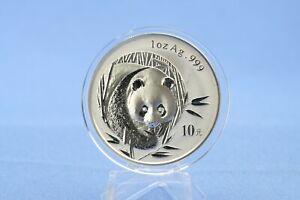 China 10 Yuan 2003 Panda  1 oz  Silber *St/Bu * gekapselt