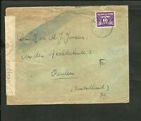 NETHERLAND 1942 CENSOR GERMANY COVER TO KEULEN, NICE