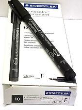 Staedtler Lumocolor Permanent Universal Pen, Fine Black, box of 10 ea  318-9