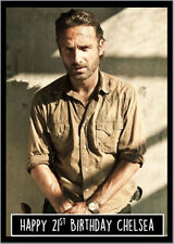 Rick Grimes Walking Dead Birthday Card A5 Personalised with any wording