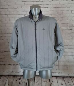 Nike ACG reversible padded jacket with zip off sleeves in 2 tone Grey size Med