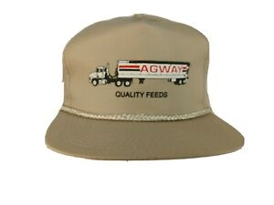 Vintage Agway Feeds Baseball Cap Hat One Size Snapback