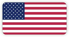 Patriotic American Flag Hard Hat Sticker / Decal Label USA Motorcycle Helmet