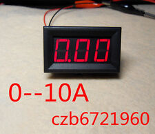 NEW Red LED Panel Meter Mini Digital Ammeter DC 0 To 10A