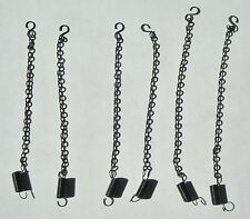DCP 6 SIX BLACK CHAINS AND SPRINGS DIECAST 1/64