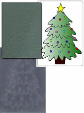 """Crafts Too Embossing Folder """"Christmas Tree"""" Ctfd3001 For Cards & Scrapbooking"""