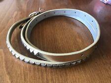 Ladies Gold Thin Studded Belt - Small PVU - VGC