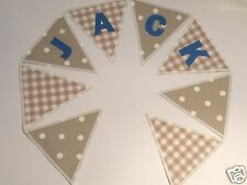 CATH KIDSTON & LAURA ASHLEY FABRIC PERSONALISED BANNER BUNTING-£2.50/letter flag