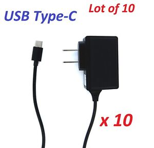 10x Type-C Home Travel Wall Charger for Samung Motorola HTC LG Type-C Android