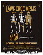 THE LAWRENCE ARMS / RED CITY RADIO 2018 PORTLAND CONCERT TOUR POSTER- Punk Rock