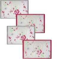 """Polypropylen-Tischset Platzset Untersetzer """"Rosen"""" - ca. 44 x 28,5 cm - 4er-Set"""