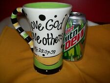 THE ART OF HIM COFFEE MUG / CUP LOVE GOD LOVE OTHERS SCRIPTURE CHRISTIAN