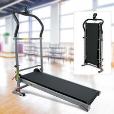 Folding Treadmill Electric Support Motorized Power Running Fitness Machine Black