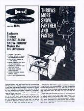 BOB CAT SNOW-THROWER MANUAL BOBCAT SNOWBLOWER BLOWER