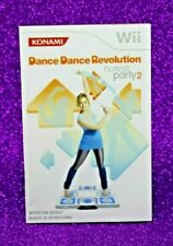 INSTRUCTION BOOKLET FOR DANCE DANCE REVOLUTION HOTTEST PARTY 2 Wii (NO GAME) 🐰