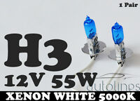 H3 12V 55W Xenon White 5000k Halogen Fog Car Headlight Lamp Globes Bulbs LED HID