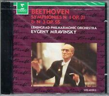 Evgeny MRAVINSKY: BEETHOVEN Symphony 1 3 Eroica Leningrad Philharmonic Erato CD