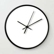 "New 12"" Minimalist Modern Clock Quartz decor office off living black simple"