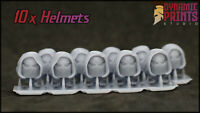 10x Blade Guard Hooded Helmets - Compatible with Warhammer 40k space marine bits