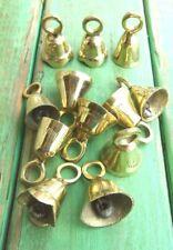 "Lot of 12 Brass Bells 1 1/2"" Wedding Bells Chimes Goat Bells Diy New 031"