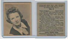 R421 Swell Bubble Gum, Babe Ruth Story, 1948, #3 Claire Hodgson (Claire Trevor)
