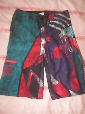 "28"" waist O'Neill teal red purple serpent summer shorts surf swimming"
