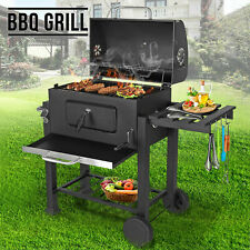 Large Charcoal barbecue Steel Garden Outdoor Grill Rectangular BBQ  New UK