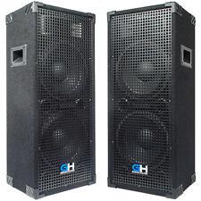2100W Pair of Dual 10 inch Passive PA Loud Speakers for bands DJs KJs Venues