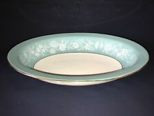 """Wedgwood """"Fieldfare"""" (Turquoise Blue/Green) Oval Serving Dish Bowl Duck Egg Blue"""