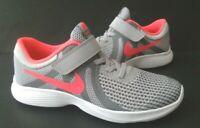 Girls Size 11,1,2,3 Y Sneakers NIKE REVOLUTION 4 (PSV) 943307  Running Training