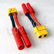 4mm HXT Stecker auf XT60 Buchse 12AWG !!! Adapter Lade Kabel LiPo Akku