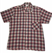 Menz Genuine Vintage 1980s Plaid Check Shirt Red/Blue/yellow Mens Sz 100cm Chest