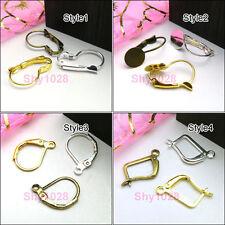 Ear Wire Earring Hook DIY Findings,Silver,Gold,Bronze 4Style-1 R5053