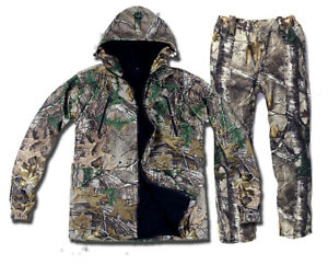 Winter Warm Bionic Camo Ghillie Suit Waterpproof Hunting Cloth Jacket and Pants