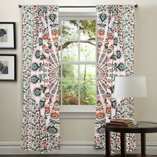 Hippie Bohemian Indian Curtain Window Valances Treatment Dorm Mandala Tapestry
