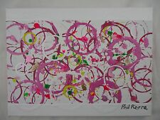 Phil Pierre - PINK BUBBLES 017 - new original abstract painting on cotton canvas