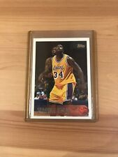 Shaquille O'Neal 1996-97 Topps #220 First Lakers Jersey Topps Card Iconic Set 34