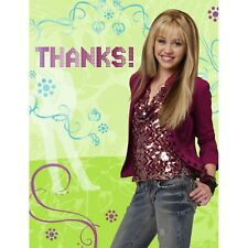 HANNAH MONTANA THANK YOU NOTES (8) ~ Birthday Party Supplies Stationery Cards