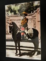 Real Hand Colored Photo RPPC Mexican Mexico California CA Horse Postcard Saddle